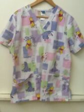 The Wonderful World of Disney: Pooh A smile Makes all the Difference Scrub Top