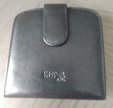 KASPER A.S.L. Genuine Leather Wallet Coin Purse Cards I.D. Window Black NEW