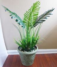 3 Leaves Artificial Paradise Palm Tree With Long Grass