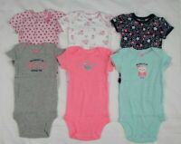 Simple Joys by Carter's Baby Girls 6-Pack  Short Sleeve Bodysuits Size 3-6M