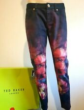 TED BAKER ENDORA COLOURFUL FLORAL SLIM FIT JEANS TROUSERS BNWT UK W 26 RRP £155