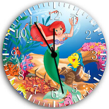 "Little Mermaid Ariel wall Clock 10"" will be nice Gift and Room wall Decor W152"