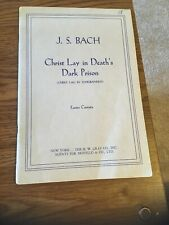 Christ Lay in Death's Dark Prison, Js Bach, Easter Cantata Hw Gray Co, Novello