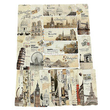 30X Paris Eiffel Tower Vintage Retro Paper Book Mark Bookmark Book Label SR