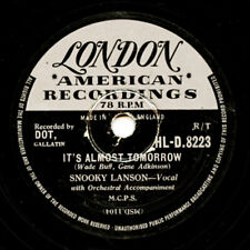 10 inch 78 RPM Record Snooky Lanson - It's Almost Tomorrow/ Why Don't You Write
