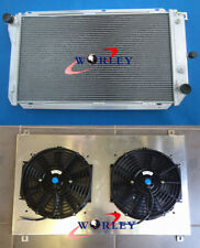 For Ford EF EF2 EL NF NL DF DL Falcon Fairline Aluminum Radiator & Shroud &Fans