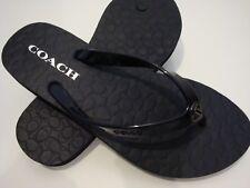 New Women COACH ALYSSA SANDAL Flip Flops Black Size 7