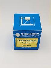 Schneider Kreuznach Componon-s 80mm F4.0 Enlarger Lens