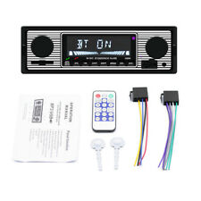 12V Car FM Retro Radio Player Bluetooth Stereo MP3 USB SD AUX Audio + Remote Kit