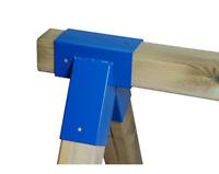 Schaukelverbinder Kantholz 90/90mm, 90° Vierkantpfosten Rohrverbindungsstück NEU