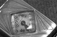 ELGIN ART DECO Lady's Watch 1920's 14KT White Gold Filled Case RARE   @ $0.99