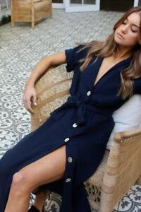 Maurie & Eve Size 12 / M Higher Love Dress Midnight Blue NWT RRP$149 SOLD OUT