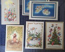 6 Vintage Angel Christmas Cards Unused
