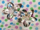 2 Vintage Antique 3D Glass Flower Buttons Lot 19M