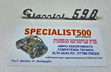 FIAT 500 F/L/R SCRITTA GIANNINI 590 CROMATA CRUSCOTTO IN METALLO CROMATO