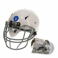 USED Schutt Youth Vengeance Pro VTO Football Helmet in White / Gray - Small