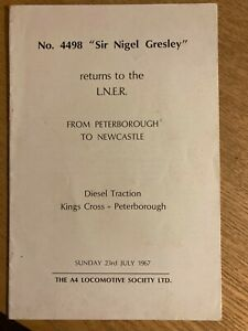 """No.4498 """"Sir Nigel Gresley"""" : On Tour on the ''Southern'' June 1967 Guide"""