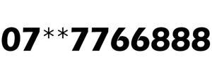 GOLD EASY MEMORABLE VIP UK MOBILE PHONE NUMBER PLATINUM SIM 7766 888