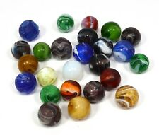 Vintage SLAG GLASS MARBLE Lot of 25 *Collectible* ONYX MARBLES Akro MFC Peltier+