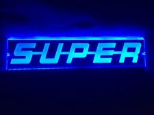 24V Blau LED Innen Cabin Licht Super Platte Laser Neon beleuchteter 500mm
