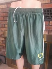 Vintage Team Nike Swoosh Oregon Ducks NCAA Basketball Shorts Mens Size Large
