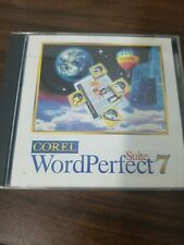 Vintage Software Corel Word Perfect 7 suite Office for Windows 3.1 w cd
