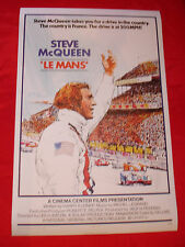 Steve McQUEEN LE MANS 24 HOUR RACE cinéma français autocollant decal