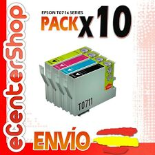10 Cartuchos T0711 T0712 T0713 T0714 NON-OEM Epson Stylus S21