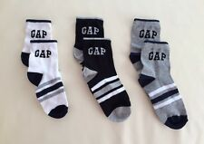 Pack of 3 pairs NEW Baby Gap Boys Athletic logo socks  ** fits 3-6 years