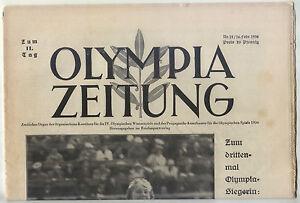 16.02.1936 OLYMPIA ZEITUNG Number 12 - Olympic Games Garmisch-Partenkirchen 1936