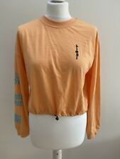 Urban Outfitters Los Angeles Bubble Hem T-Shirt Top. Orange. Small. RRP £29