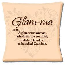 """NEUF 'glam-ma' GLAMOUR Jeune fabuleux femme mamie 16 """" HOUSSE COUSSIN"""