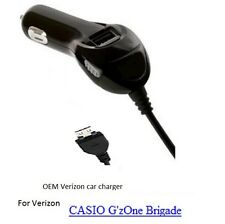 NEW OEM Verizon CAR CHARGER CASIO G'zOne Brigade C741 Vehicle CORD Power-Adapter