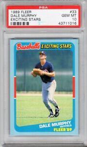 1989 FLEER EXCITING STARS 33 DALE MURPHY- PSA 10 GEM-MT Atlanta Braves