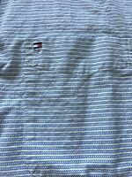 Tommy Hilfiger Mens Blue White Pattern Short Sleeve Front Button Shirt RN77806
