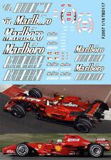 1/18  FERRARI F1 F2007 F 2007 SPONSOR RAIKKONEN MASSA DECALS TB DECAL TBD117
