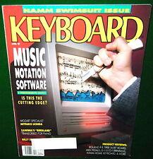 1989 Roland R-8 Drum Report KAWAI PH50, Keyboard Magazine Zawinul Piano Birdland
