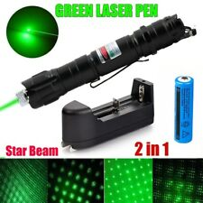 900Miles Green Laser Pointer Pen 532nm Visible Beam Light Star Cap+18650+Charger