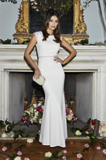 New Ex Quiz Ladies Long Wedding Dress Bridesmaids Bridal White Pearl RRP £80