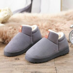 Women Winter Home Slippers Indoor Flats Shoes Plush Solid Patterned Footwear New