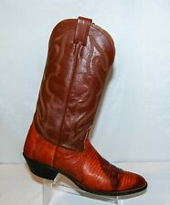 Nocona 11 AA Lizard Skin Leather Cowboy Boots Brown Men's