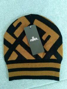 Fendi Beanie Hat Winter Cap Brown