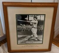 Mel Ott New York Giants framed display piece from Ted Williams museum