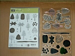 Stampin Up TOTALLY TREES photopolymer stamp set variety of trees