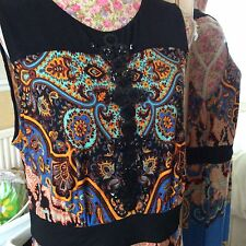 "Monsoon Toska Scarf Length 54"" Dress Size 16 Exc Very Rare Hols"