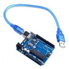 COMPATIBLE UNO R3 ATMEGA328P MICRO-CONTROLLER PCB WITH USB CABLE USA SHIP !!