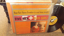 Teddy Phillips Orchestra w/Colleen Lovett LP Five Men + Girl Carlton 12131 Sexy