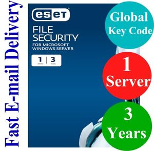 ESET File Security for Windows Server  3 Years (Unique Global Key Code) 2021