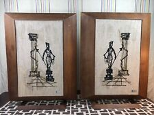 Very Rare Mid Century Modern Abstract University Wall or Floor Speakers w/Stands