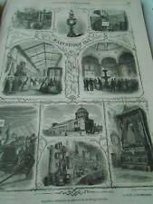 Gravure 1861 - Exposition industrielle du Grand Duché de Bade à Carlsruhe